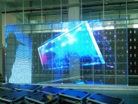 P10mm Glass Wall LED display Screen